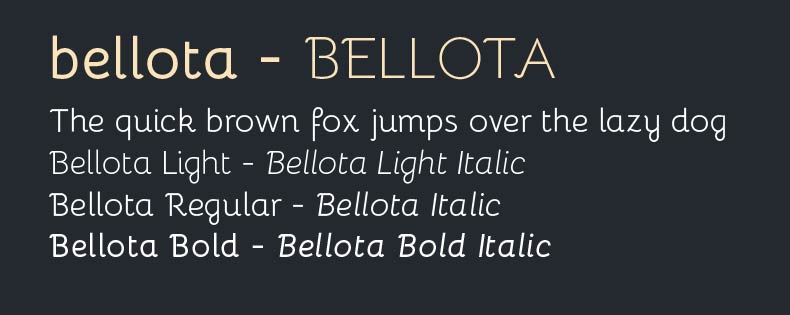 Font Bellota