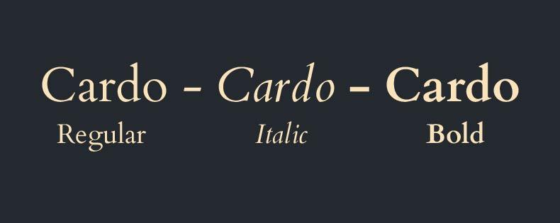 Font Cardo