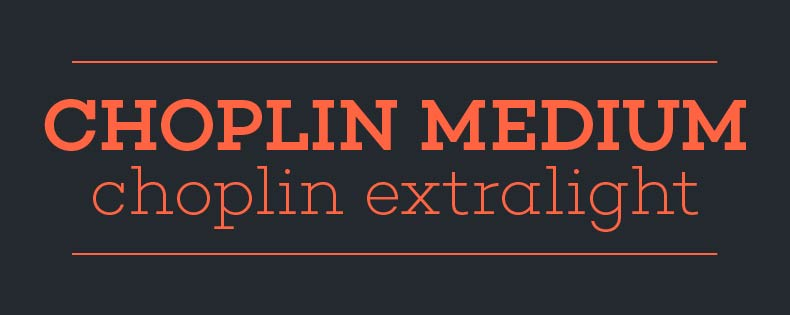 Font Choplin
