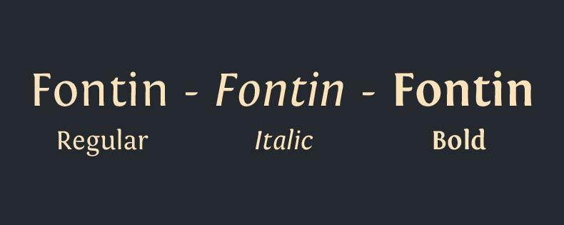 Font Fontin