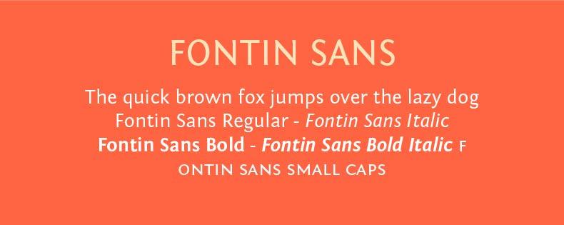 Font Fontin Sans