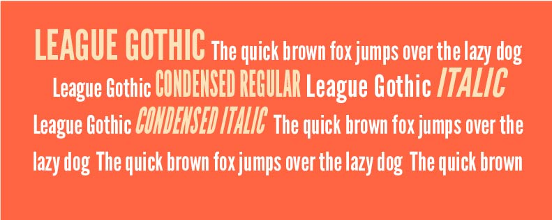 Font League Gothic