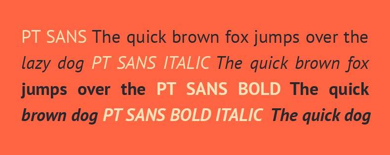Font Pt Sans