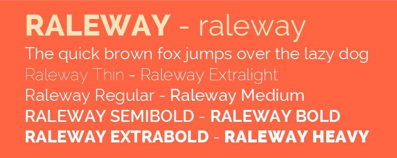 Font Raleway